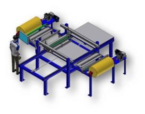 CA Flat Panel Fabric Laminator a